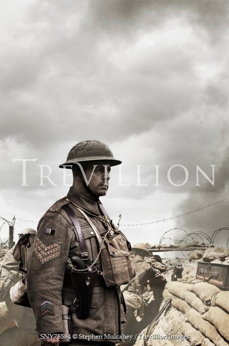 Trevillion Images Stephen Mulcahey british soldiers in a ww2
