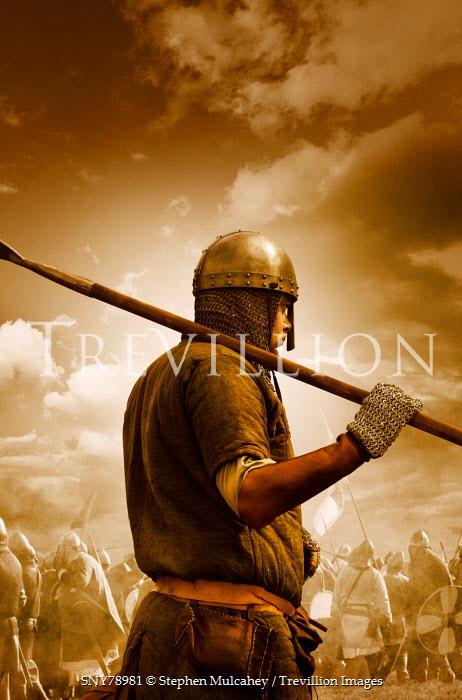Stephen Mulcahey A saxon warrior on the battlefield Men