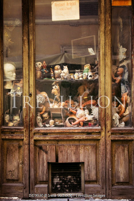 Irene Suchocki WINDOW OF OLD JUNK SHOP Miscellaneous Buildings