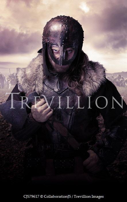 CollaborationJS viking warrior wearing helmet Men
