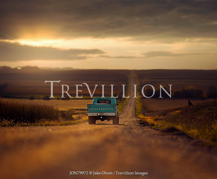Jake Olson TRUCK ON AMERICAN COUNTRY ROAD Cars