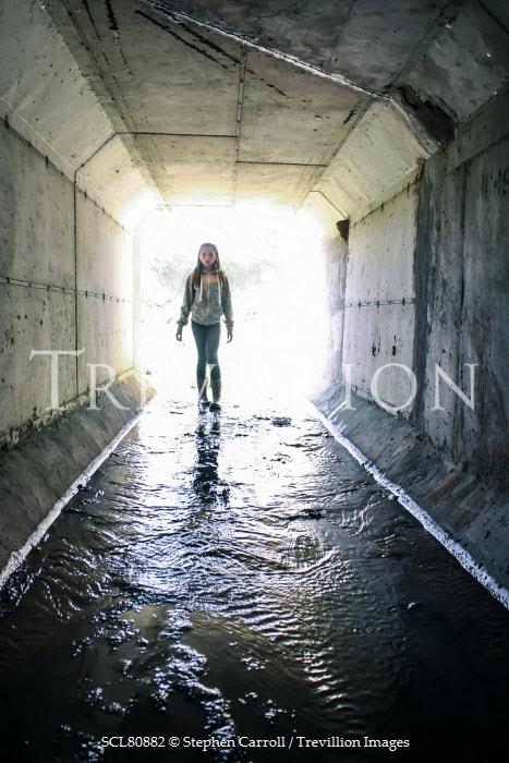 Stephen Carroll TEENAGE GIRL IN DAMP URBAN TUNNEL Children
