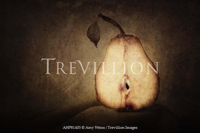Amy Weiss STILL LIFE WITH DECAYING PEAR