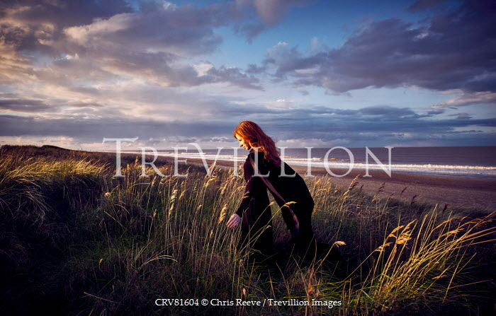 Chris Reeve WOMAN WITH RED HAIR BY CLOUDY SEA Women