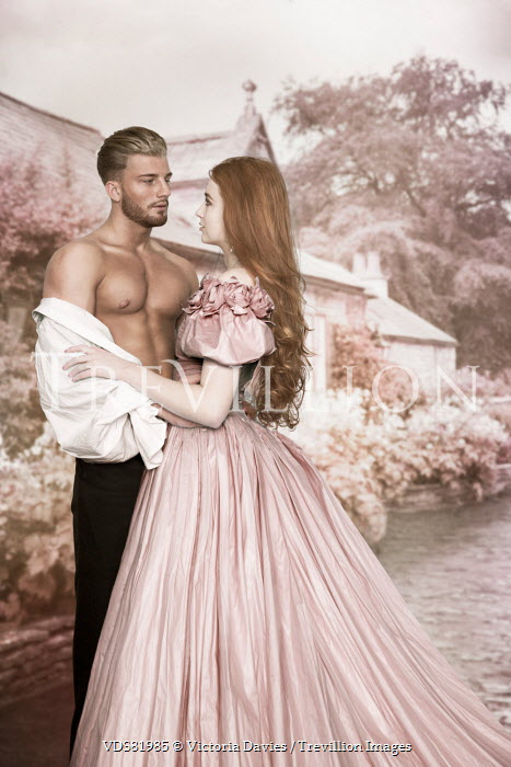 Victoria Davies YOUNG SEXY HISTORICAL COUPLE BY COUNTRY HOUSE Couples