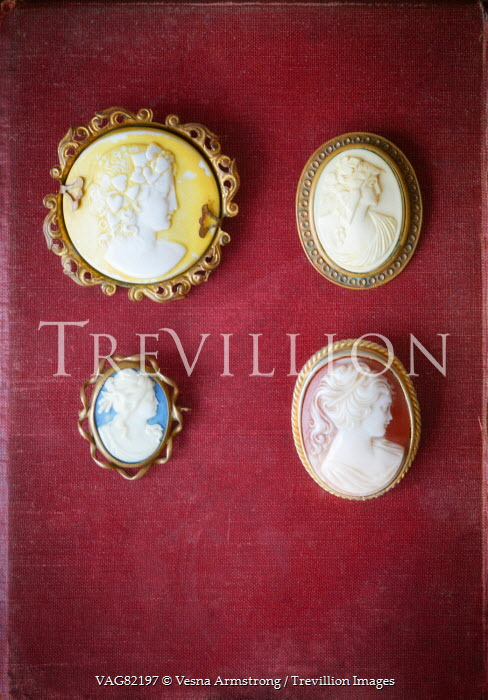 Vesna Armstrong FOUR ANTIQUE CAMEO BROOCHES Miscellaneous Objects