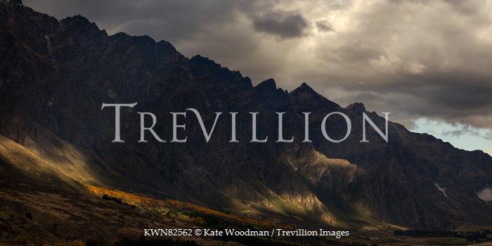 Kate Woodman DARK MOUNTAINS UNDER STORMY SKY Rocks/Mountains