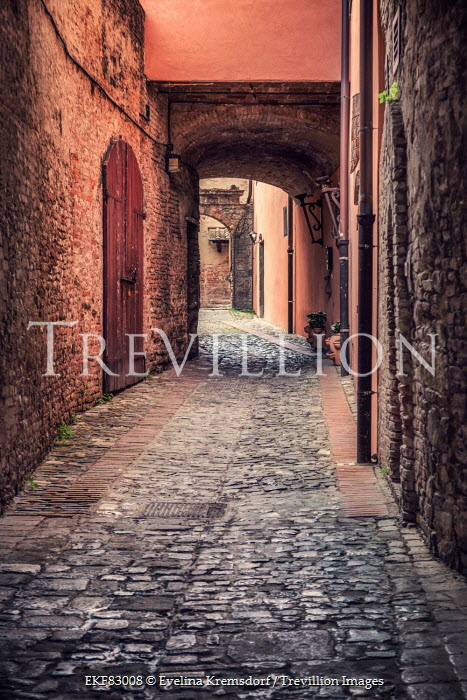 Evelina Kremsdorf cobbled alley in Tuscany, Italy Streets/Alleys