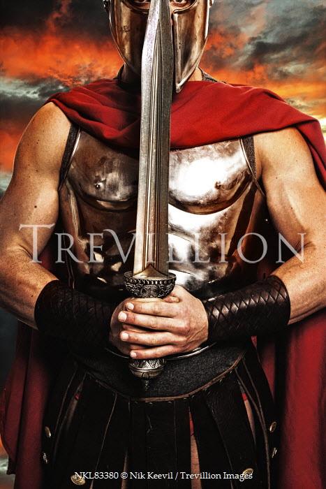 Nik Keevil ANCIENT ROMAN SOLDIER HOLDING SWORD Men