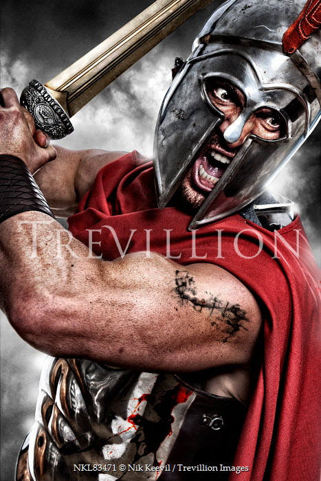 Nik Keevil ANGRY ANCIENT ROMAN SOLDIER WITH SWORD Men