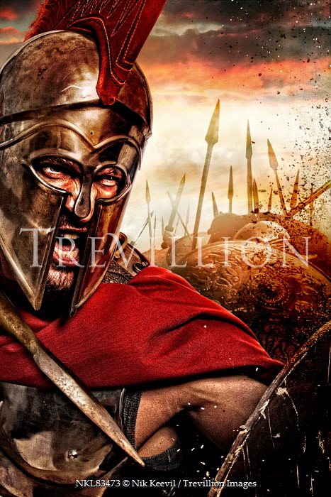 Nik Keevil AGGRESSIVE ANCIENT ROMAN SOLDIER IN BATTLE Men