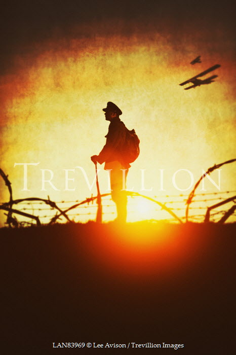 Lee Avison World War One Soldier at Sunset Men
