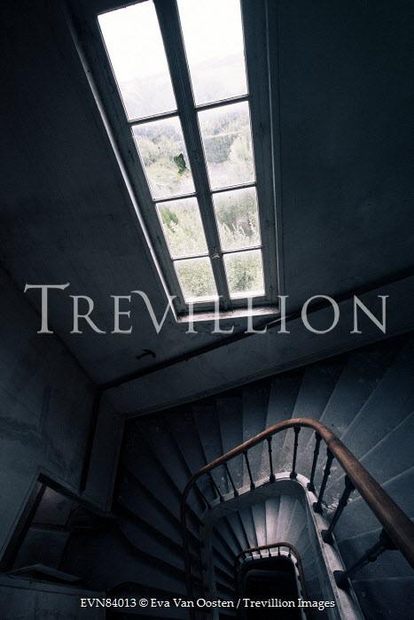 Eva Van Oosten SPIRAL STAIRCASE BY WINDOW Stairs/Steps
