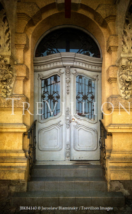 Jaroslaw Blaminsky DECORATIVE BUILDING WITH ART NOUVEAU DOOR Miscellaneous Buildings