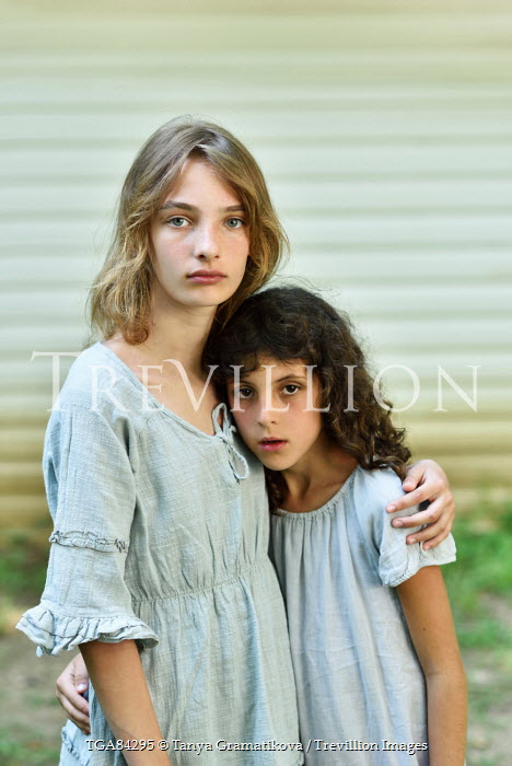 Tanya Gramatikova TWO YOUNG GIRLS EMBRACING Children