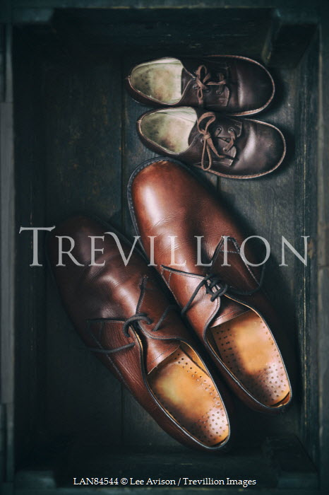 Lee Avison two pairs of vintage shoes for father and son Miscellaneous Objects