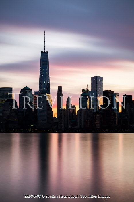 Evelina Kremsdorf silhouette of New york skyscrapers Specific Cities/Towns