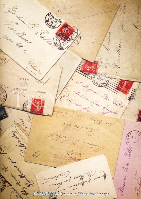 Jan Bickerton OLD LETTERS AND CARDS FROM FRANCE Miscellaneous Objects
