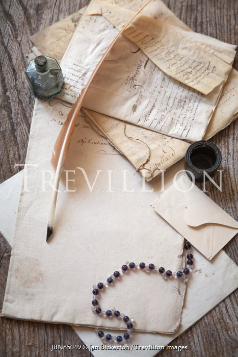 Jan Bickerton QUILL, INK, MANUSCIPTS AND BEADS Miscellaneous Objects