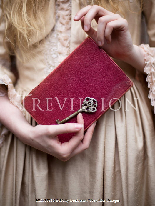 Holly Leedham HISTORICAL WOMAN HOLDING BOOK AND KEY Women