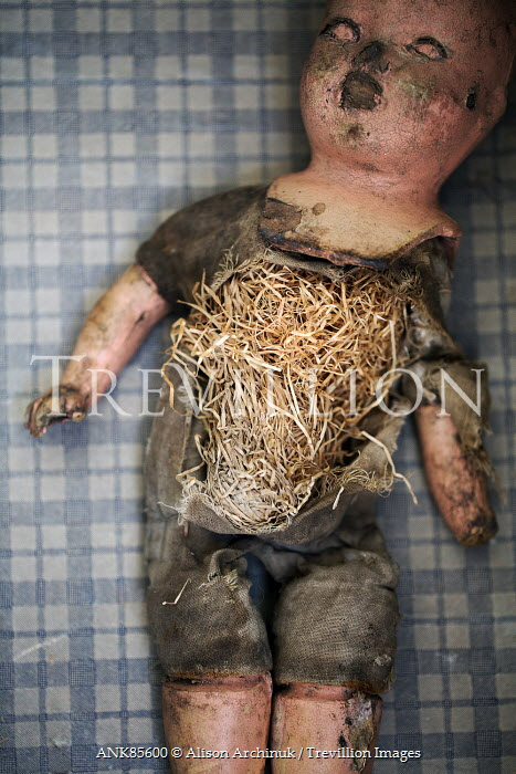 Alison Archinuk DIRTY BROKEN DOLL WITH STRAW STUFFING Miscellaneous Objects