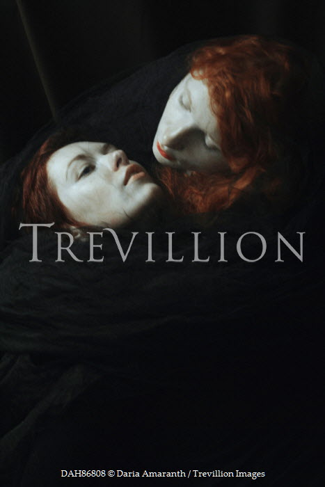 Daria Amaranth TWO WOMEN WITH RED HAIR EMBRACING Couples