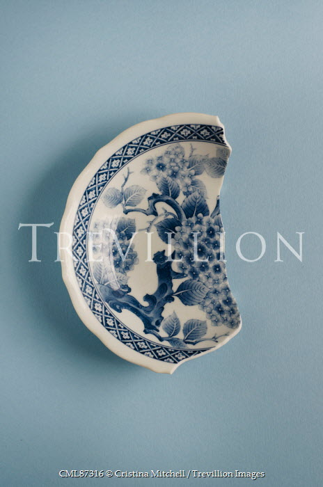Cristina Mitchell BROKEN BLUE AND WHITE CHINA BOWL Miscellaneous Objects
