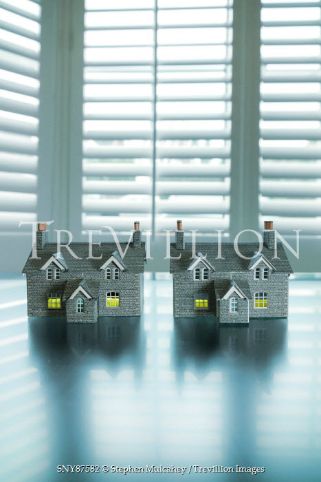 Stephen Mulcahey two miniature house on a window ledge Miscellaneous Objects