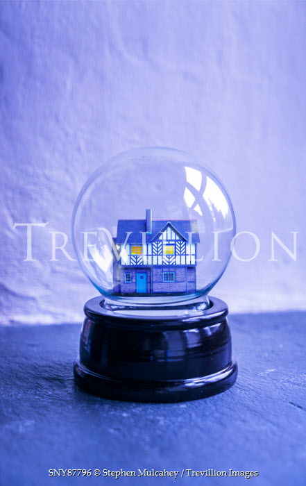 Stephen Mulcahey A model house inside a glass globe Miscellaneous Objects