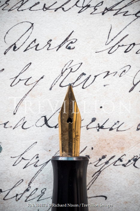 Richard Nixon GOLD INK PEN WITH OLD LETTER Miscellaneous Objects