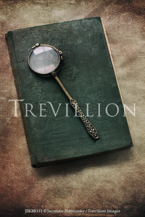 Jaroslaw Blaminsky VINTAGE MAGNIFYING GLASS ON NOTE BOOK Miscellaneous Objects