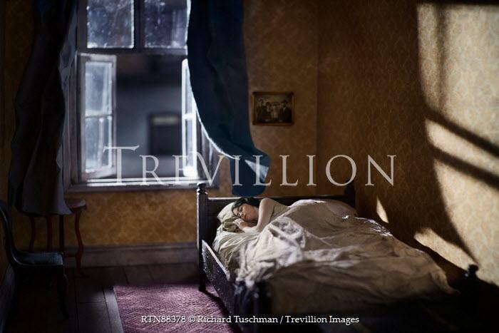 Richard Tuschman WOMAN SLEEPING BY OPEN WINDOW Women