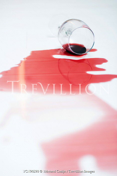 Ysbrand Cosijn SPILLED GLASS OF RED WINE Miscellaneous Objects
