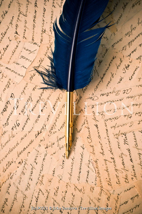 Jitka Saniova QUILL WITH BLUE FEATHER Miscellaneous Objects