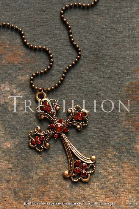 Jaroslaw Blaminsky CRUCIFIX ON CHAIN WITH RUBIES Miscellaneous Objects