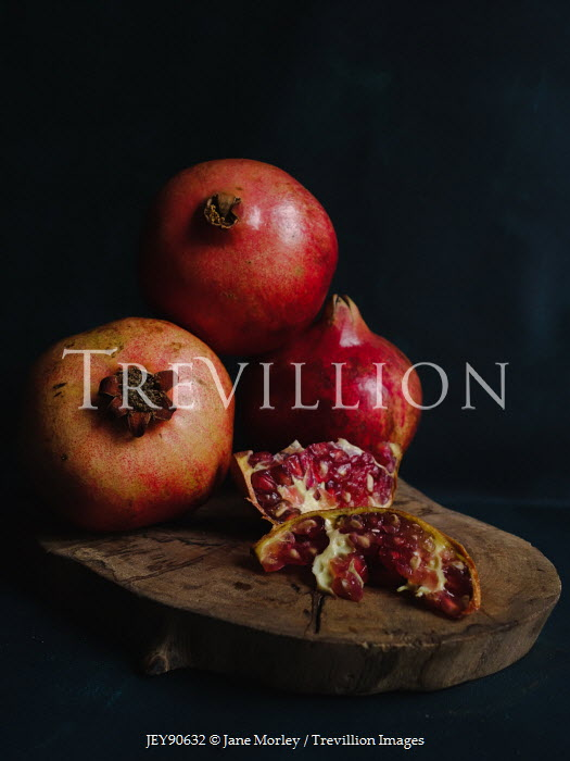 Jane Morley POMEGRANATES AND PIPS ON WOODEN BOARD Miscellaneous Objects