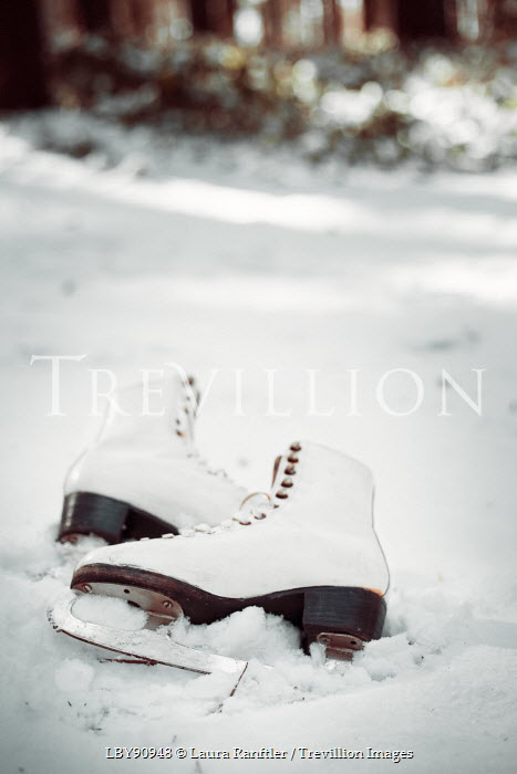 Laura Kate Bradley ICE SKATES IN SNOW Miscellaneous Objects