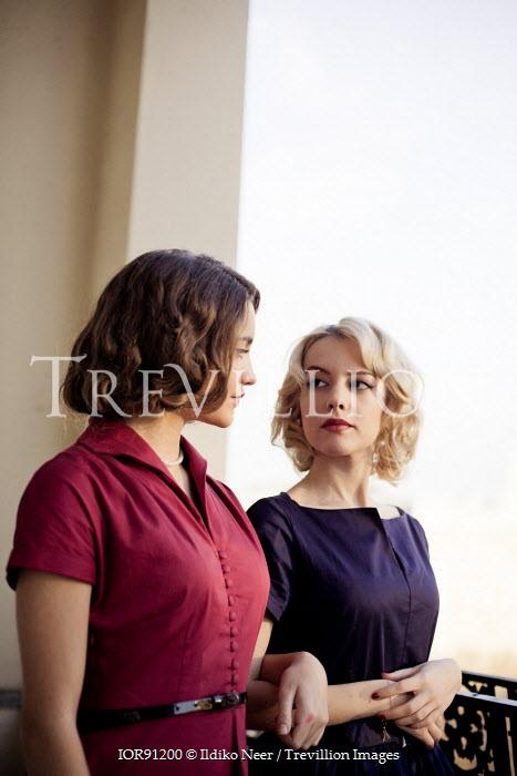 Ildiko Neer TWO WOMEN IN VINTAGE DRESSES Women