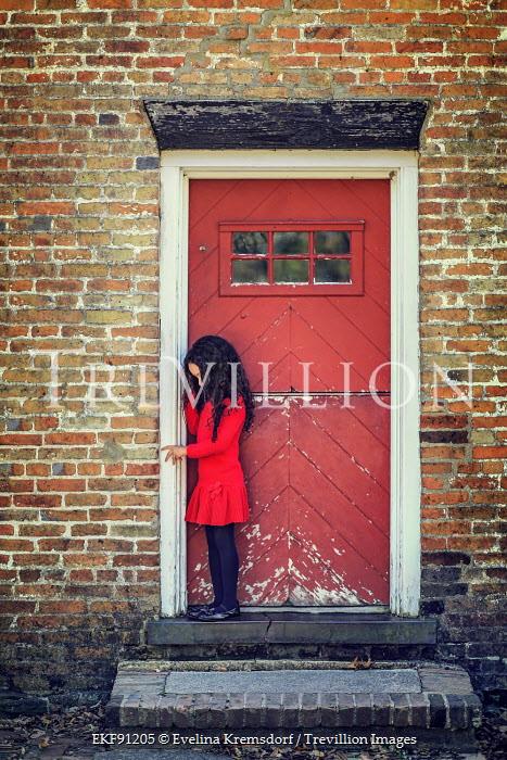 Evelina Kremsdorf YOUNG GIRL STANDING IN DOORWAY Women