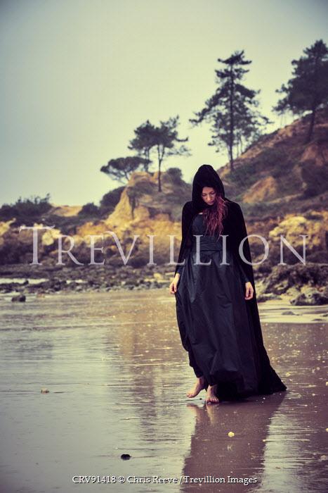Chris Reeve HISTORIC WOMAN WALKING ON SAND Women