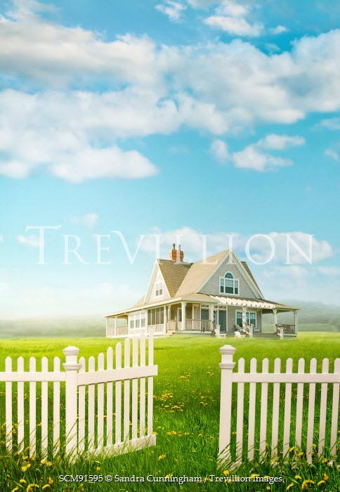 Sandra Cunningham COUNTRYSIDE HOUSE IN SUMMER Houses