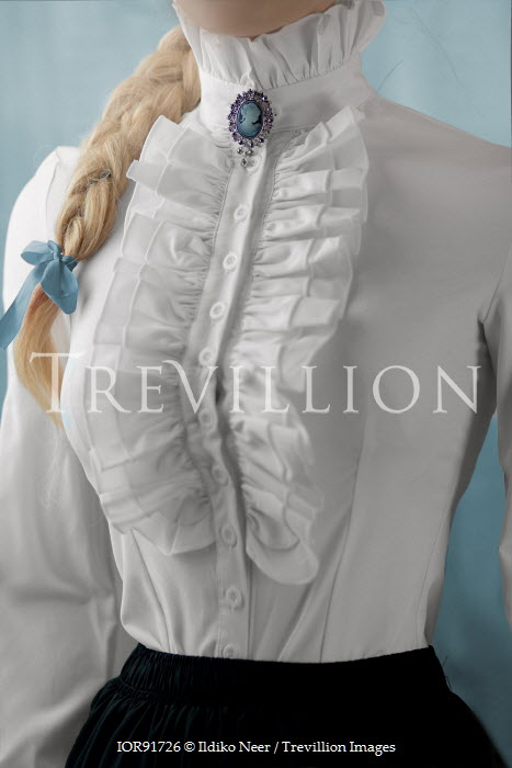 Ildiko Neer Victorian woman in white blouse Women
