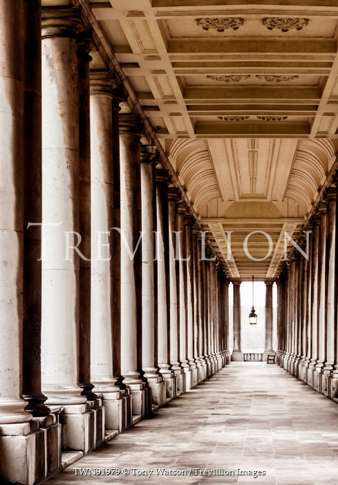 Tony Watson CLASSICAL COLONNADE WITH STONE PILLARS Building Detail