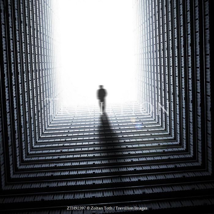 Zoltan Toth MAN WALKING IN MYSTERIOUS TUNNEL Men