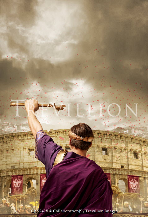 CollaborationJS ROMAN EMPEROR WITH CROWDS BY AMPHITHEATRE Men
