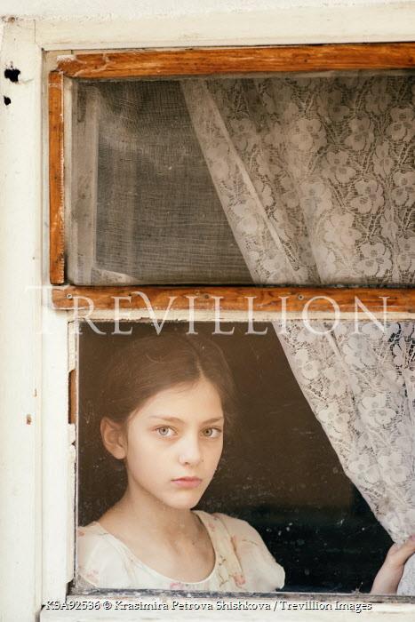 Krasimira Petrova Shishkova SAD GIRL WATCHING AT WINDOW Children