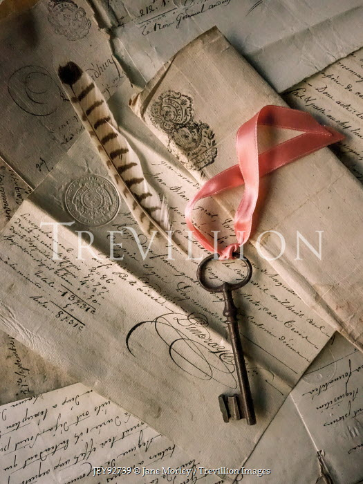 Jane Morley IRON KEY WITH HANDWRITTEN LETTERS Miscellaneous Objects