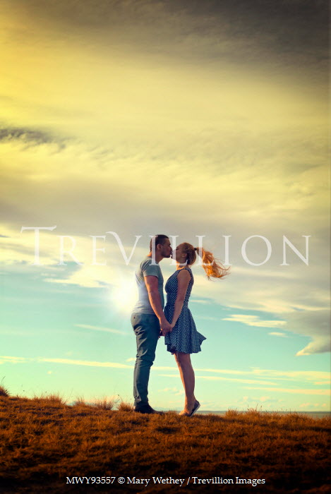 Mary Wethey COUPLE KISSING ON SUMMERY BEACH Couples