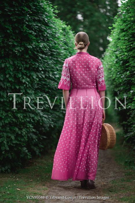 Ysbrand Cosijn WOMAN IN PINK DRESS BY HEDGES Women