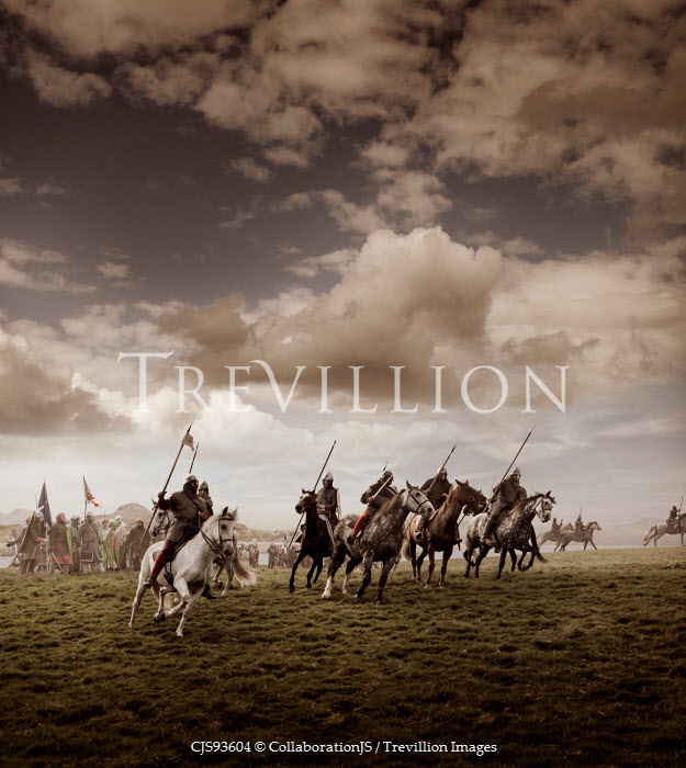 CollaborationJS MEDIEVAL SOLDIERS ON HORSEBACK IN BATTLE Groups/Crowds